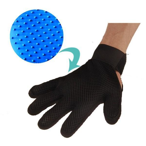 rokavica za česanje psa
